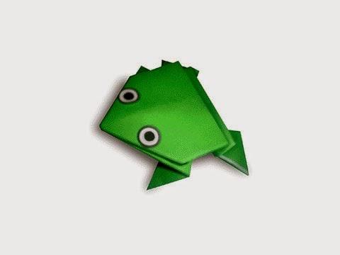 Cách gấp, xếp con ếch nhảy bằng giấy origami - Video hướng dẫn xếp hình - How to make a Jumping Frog