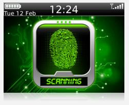تحميل برنامج فتح وقفل الشاشة بالبصمة لهواتف وأنظمة بلاك بيري Finger Print Scanner Lock BB 1.0.1.8