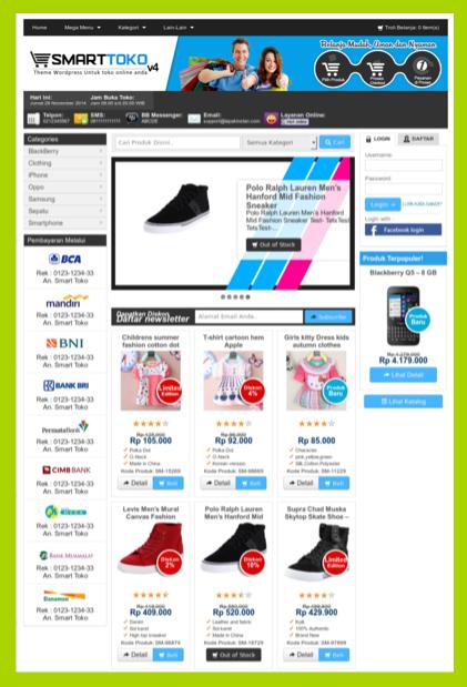 Template blog toko online keren