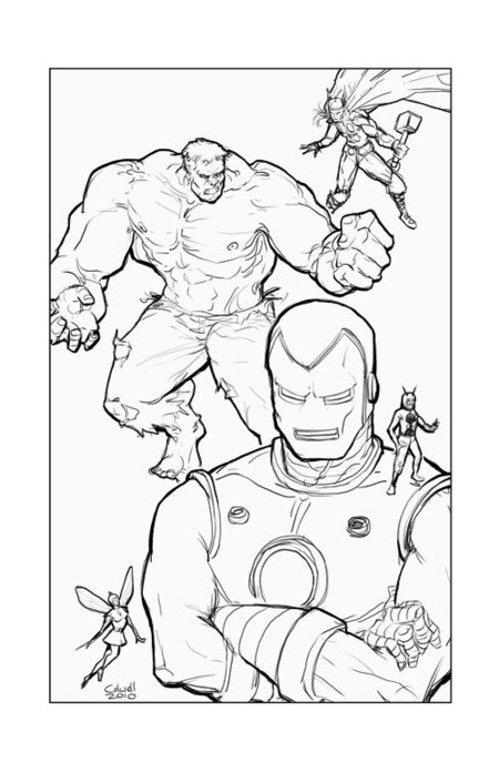 Printable Avengers Coloring Pages title=