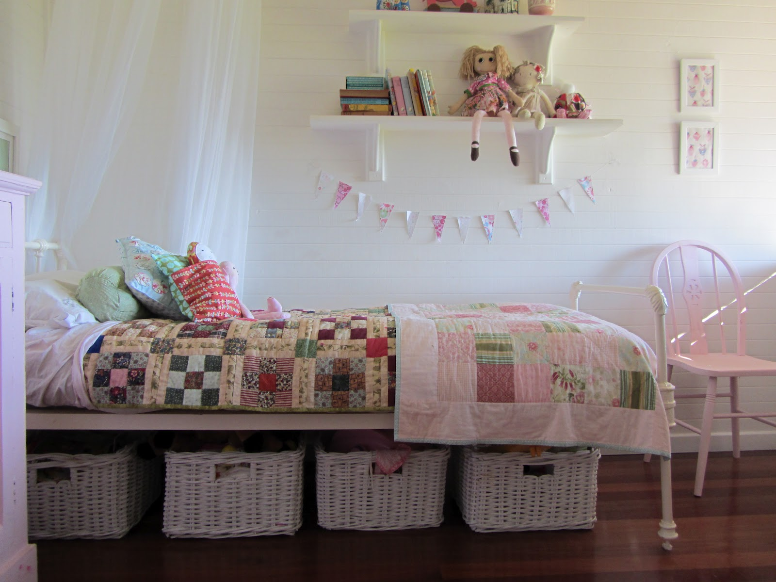 Thom haus handmade decorating and storage ideas for a Little girls bedroom decorating ideas