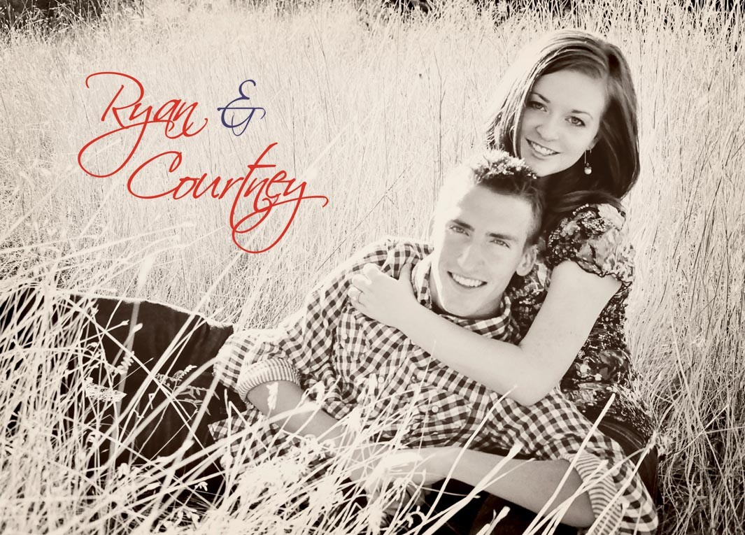 Courtney + Ryan Antique Style Wedding Invites Utah