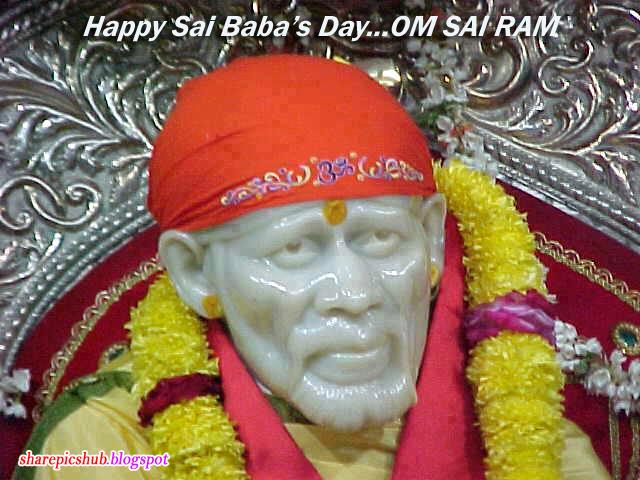 Happy sai baba day blse happy sai babas day greeting card sai baba pics for guruwar m4hsunfo