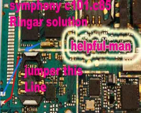 symphony c101 ringer solution