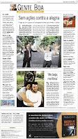 notícia no jornal