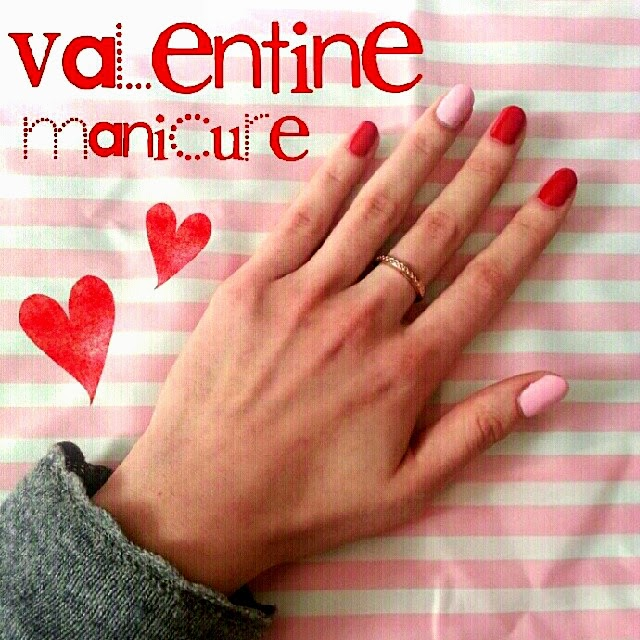 Valentine Nails Valentine manicure Ideas Accent Manicure Rhianna Katy Perry Beyonce Ring Finger nails Pink polish Red polish Pinkaddicted Pastelpink Layla Ceramic effect 57  Pupa Lasting Color Gel n.39 How to do an accent manicure