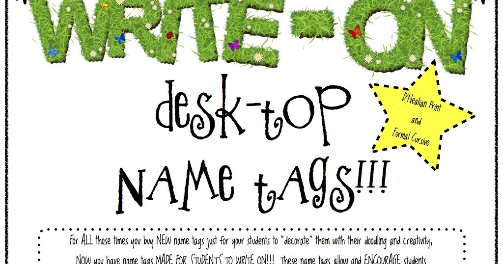 all things apple in 2nd write on desk top name tags