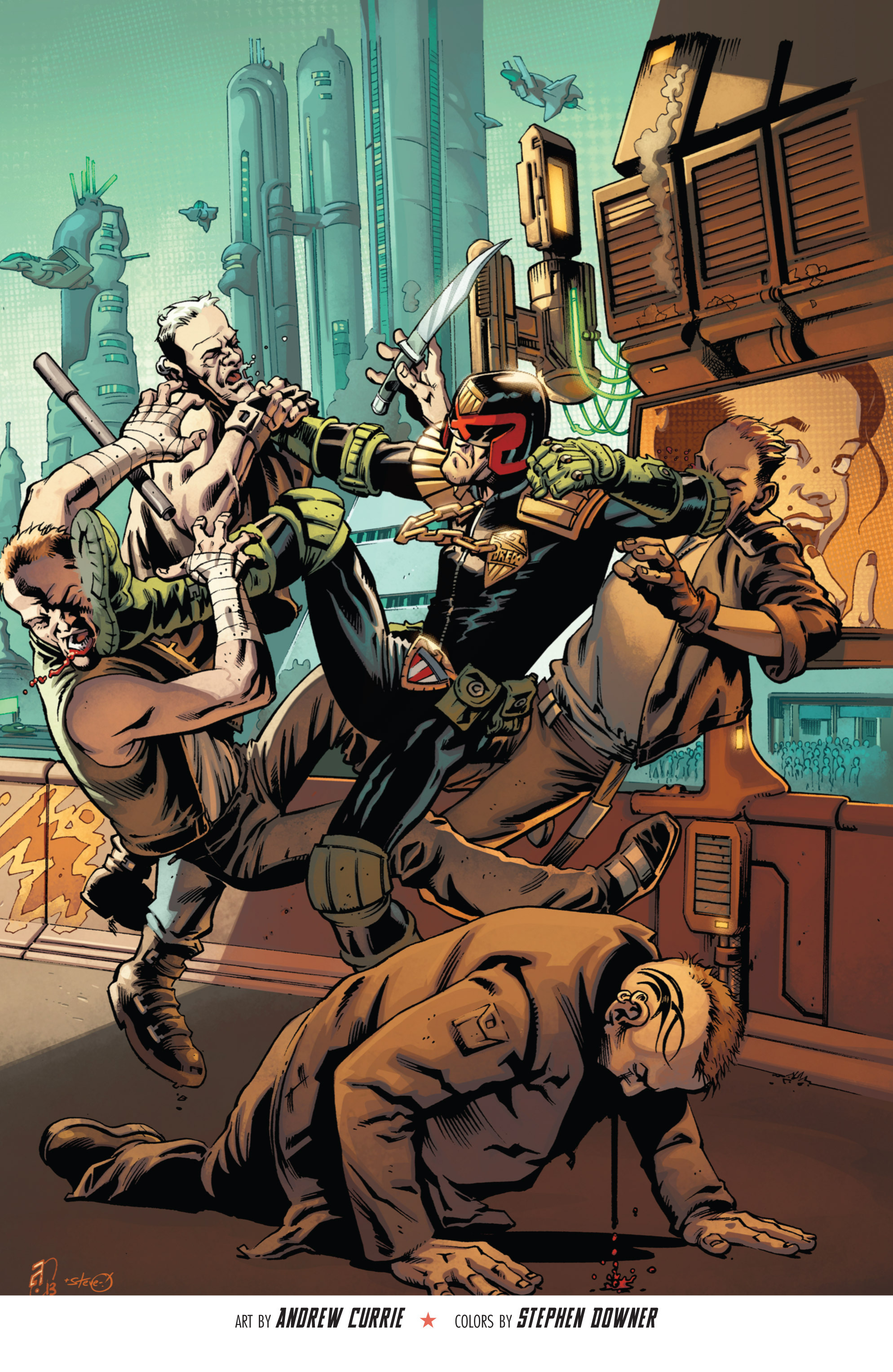 Read online Judge Dredd (2012) comic -  Issue # _TPB 3 - 100