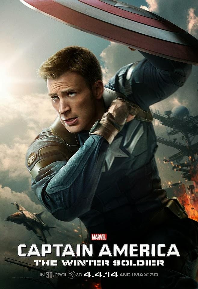 Chris Evans es Steve Rogers en el Capitán América: El Soldado de Invierno