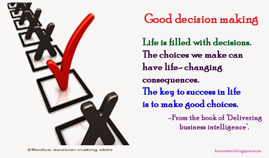 essays on making decisions Essay: the topic states that teenage children cannot make sensible decisions themselves, and instead these decisions should be made by adult members of their families it is impossible to agree or disagree with this statement for all possible decisions in general.