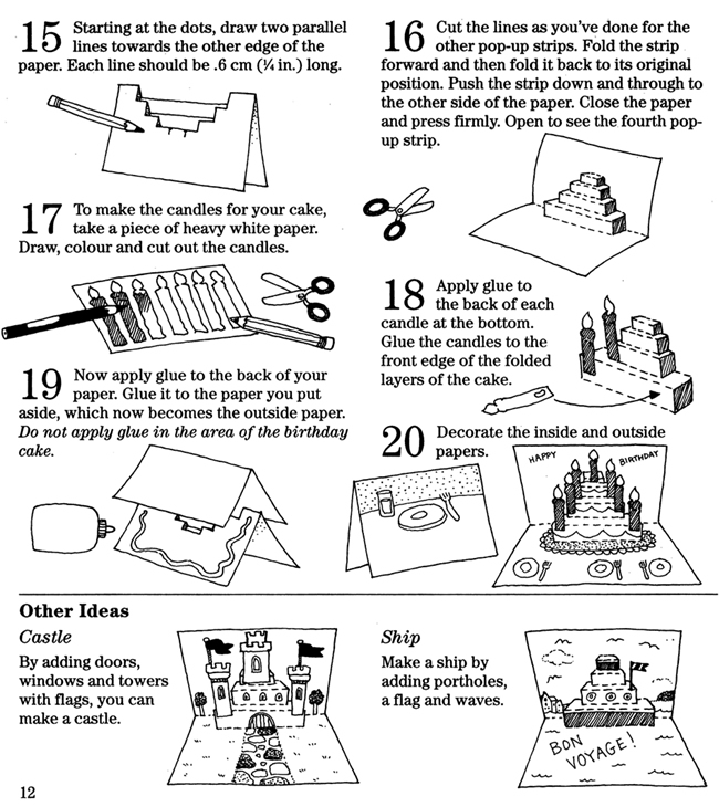 instructions on how to make a pop up box card