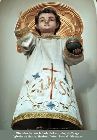 Niño Jesús con la bola del mundo, de Praga. Iglesia de Santa Marina. León. Foto G. Márquez