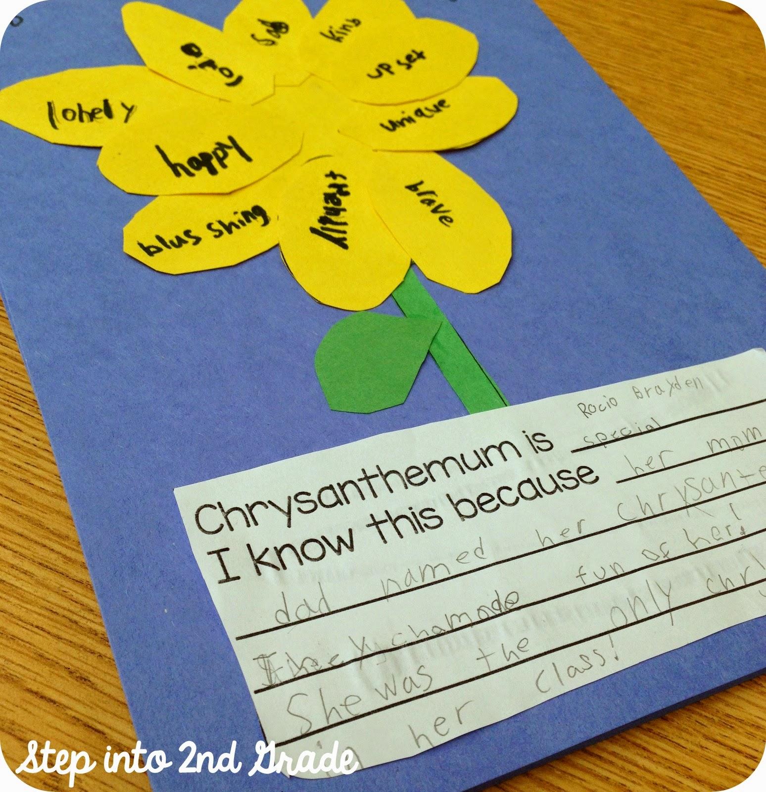 Chrysanthemum Book Activities For First Grade on Ideas For Using Chrysanthemum On First