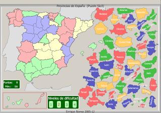mapa de espana interactivo