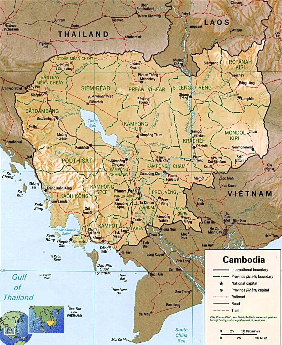 Peta negara kamboja cambodia map about cambodia culture