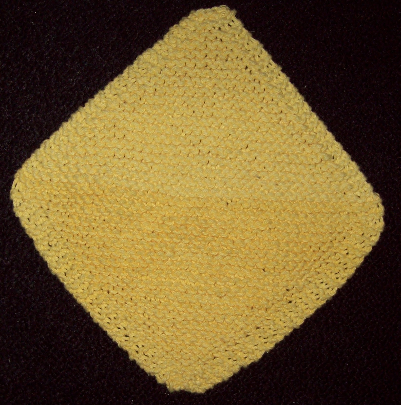Knitted Dishcloth Patterns Diagonal : Eary Knitting: Diagonal Dishcloth Pattern