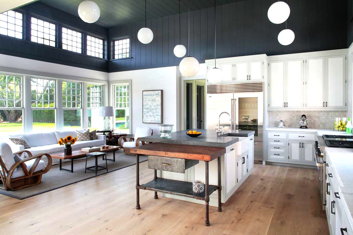 Tale of a two toned kitchen nbaynadamas furniture and for Farmhouse style kitchen lighting
