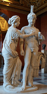 statue of Venus and Mars from the Louvre