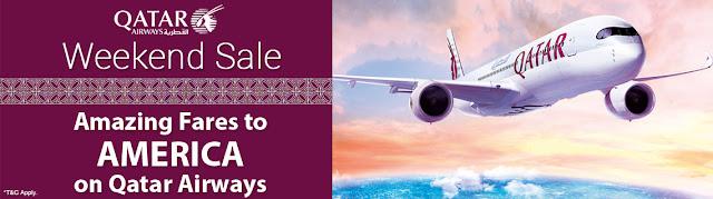 QATAR AIRWAYS - WEEKEND SALE AMAZING FARES TO AMERICA ON QATAR AIRWAYS +91-8000999660 www.aksharonline.com / Akshar Infocom +91-8000999660 Travel Agent Ahmedabad, Ghatlodia Travel Agency - aksharonline.com