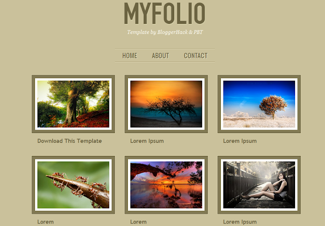 One Column Portfolio Blogger Template