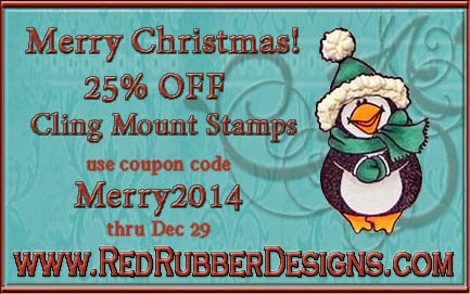 Christmas Sale at Red Rubber Designs!