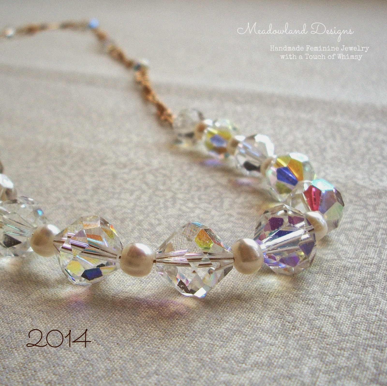 Strung Pearl & Vintage Glass Necklace, 2014