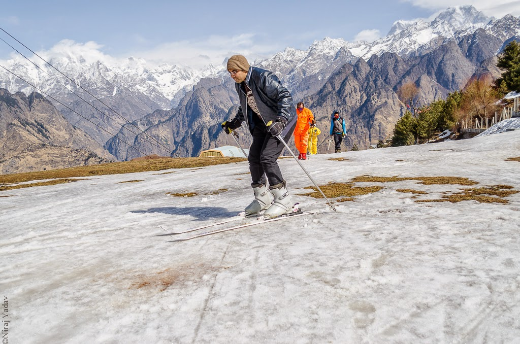 skiing in india, bike trip to auli, niraj yadav