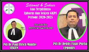 Pdt Dr Deddy Fazar Purba dan Pdt Dr Paul Ulrich Munthe Terpilih Sebagai Ephorus dan Sekjen GKPS