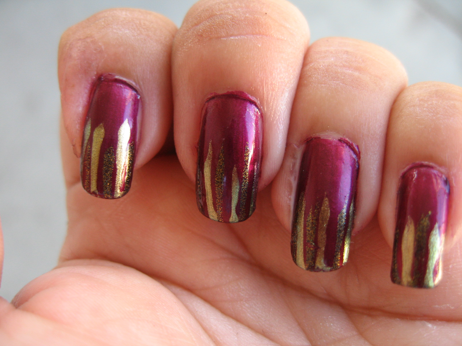 Impoverished by Polish: Don\'t Make Me Wine about waterfall nails!