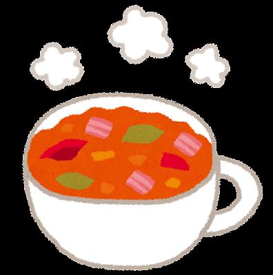 ミネストローネのイラスト(スープ)