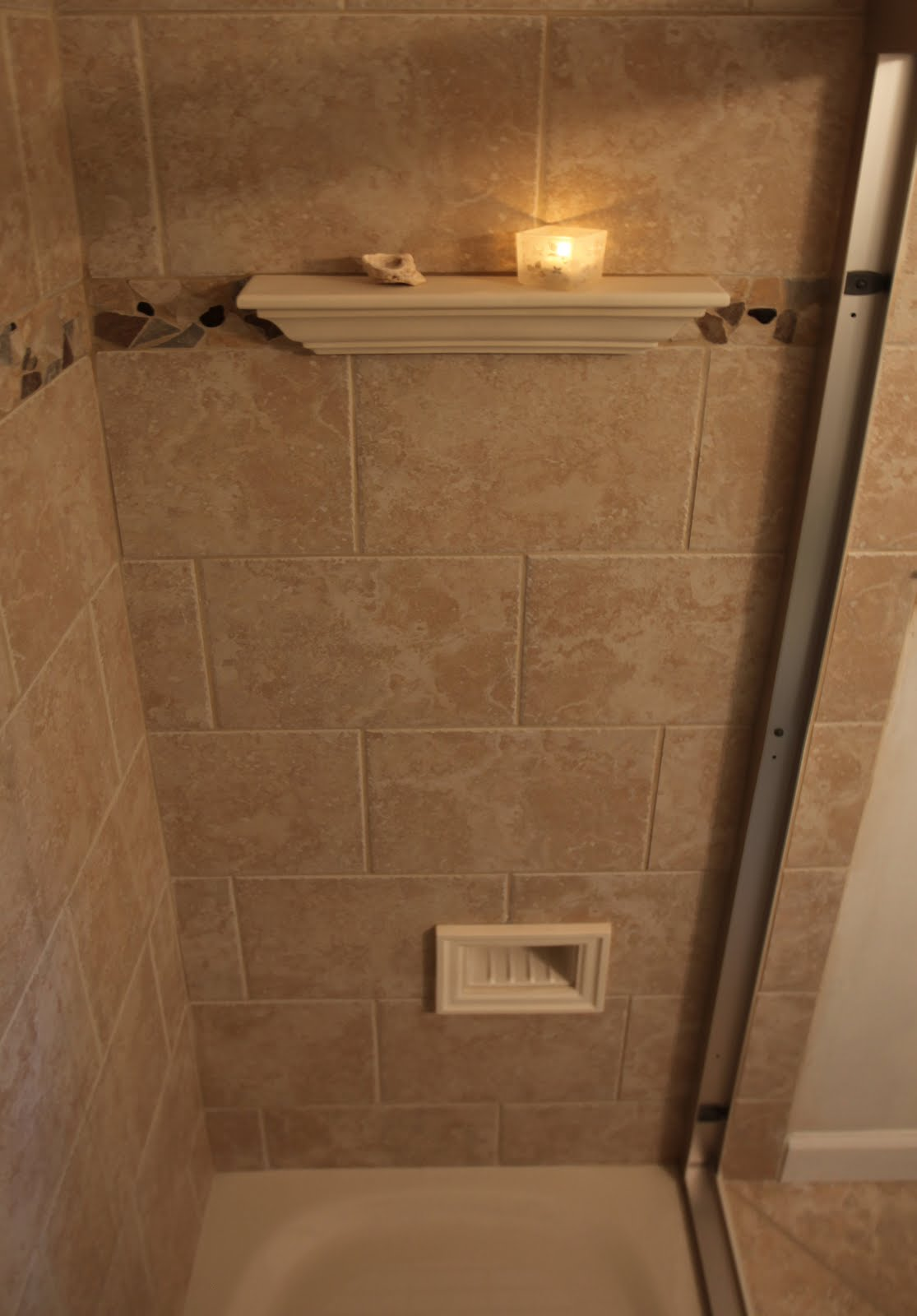 Tile Shower Foot Rest