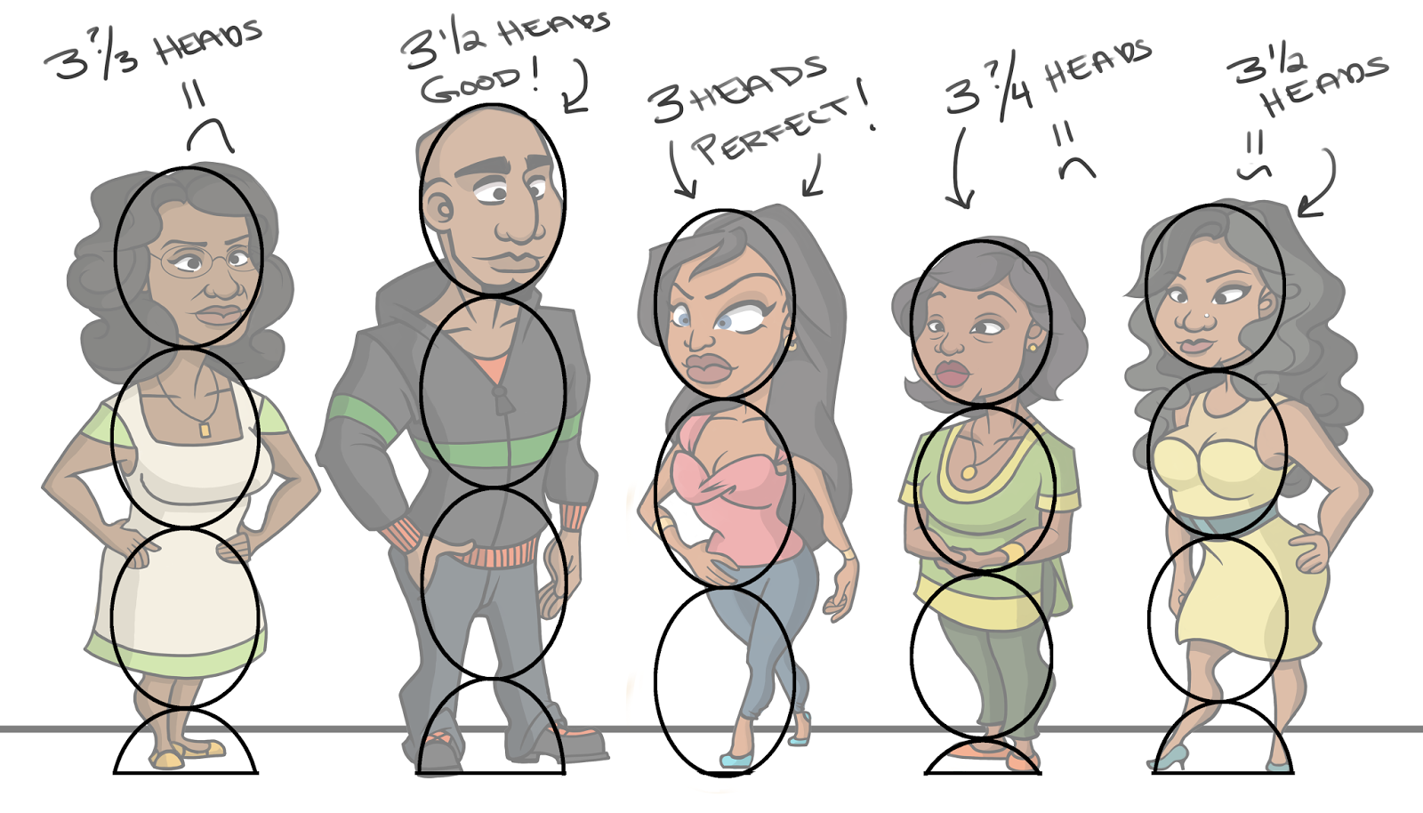 Character Design Lineup : Sketch january