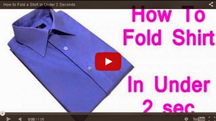 Tips Melipat Baju Hanya Dalam 2 Detik