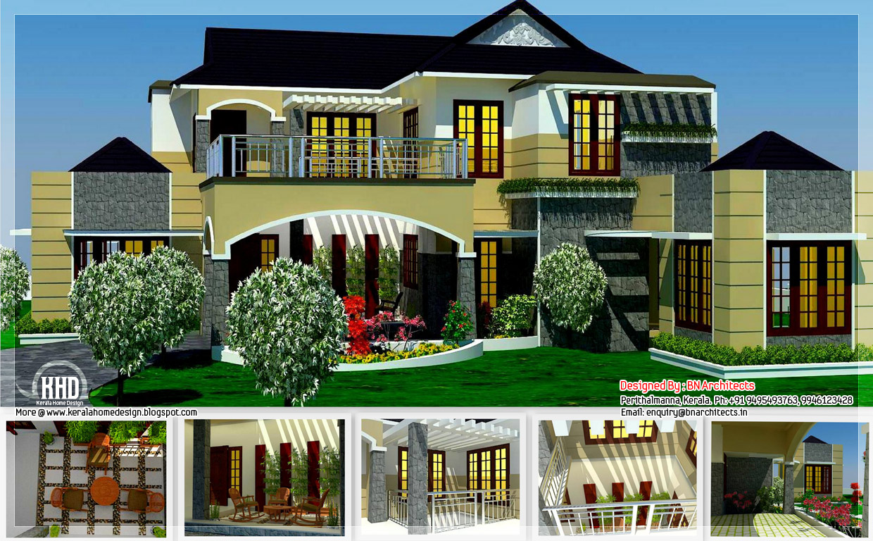 5 bedroom luxury home in 2900 sq feet kerala home design kerala house plans home decorating - Luxury home designs plans ...