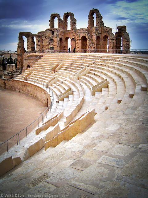 Az El-Djem-i kolosszeum, Tunézia, Afrika