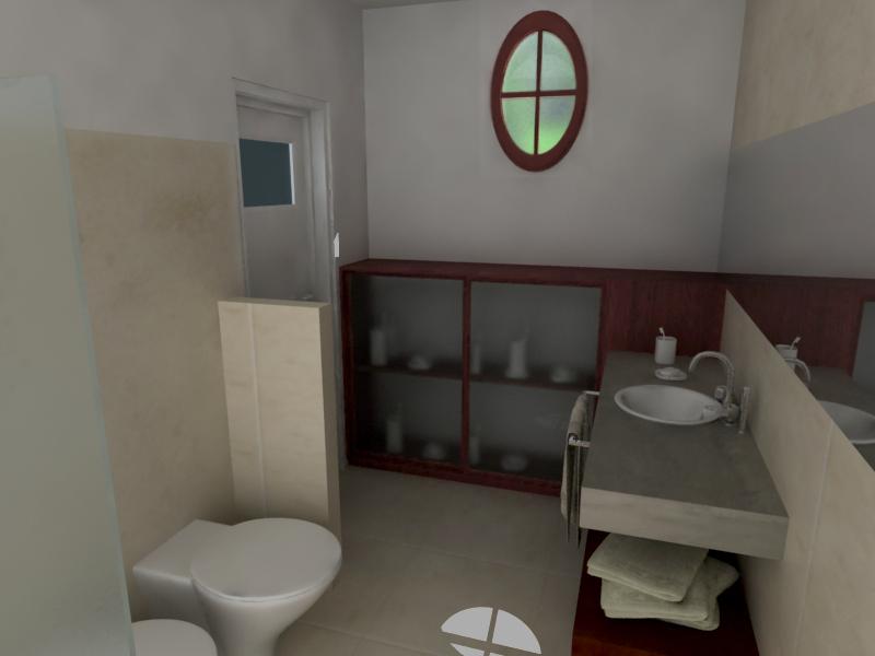 Mesadas De Baño En Microcemento: baño revestimiento venecitas marrones y beige mesada cemento alisado