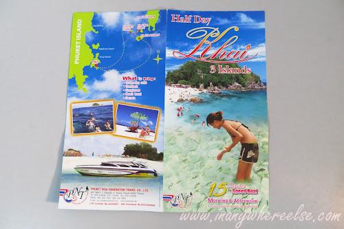 phuket island hopping brochure