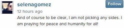 Selena Gomez 'Pray For Gaza' [2]