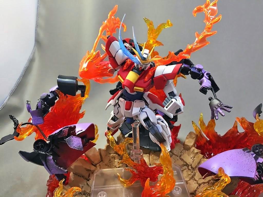 Diorama Build - Build Burning Gundam