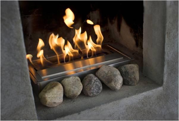 Eco hogares calefacci n con dise o for Lenos a gas modernos