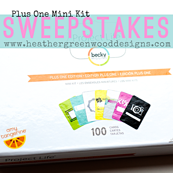 Amy Tangerine Plus One Project Life Mini Kit SWEEPSTAKES at Heather Greenwood Designs