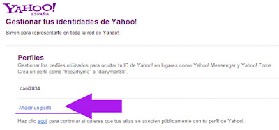 perfiles yahoo mail
