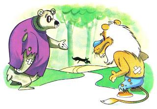 Fabula la Zorra, el Oso y el León