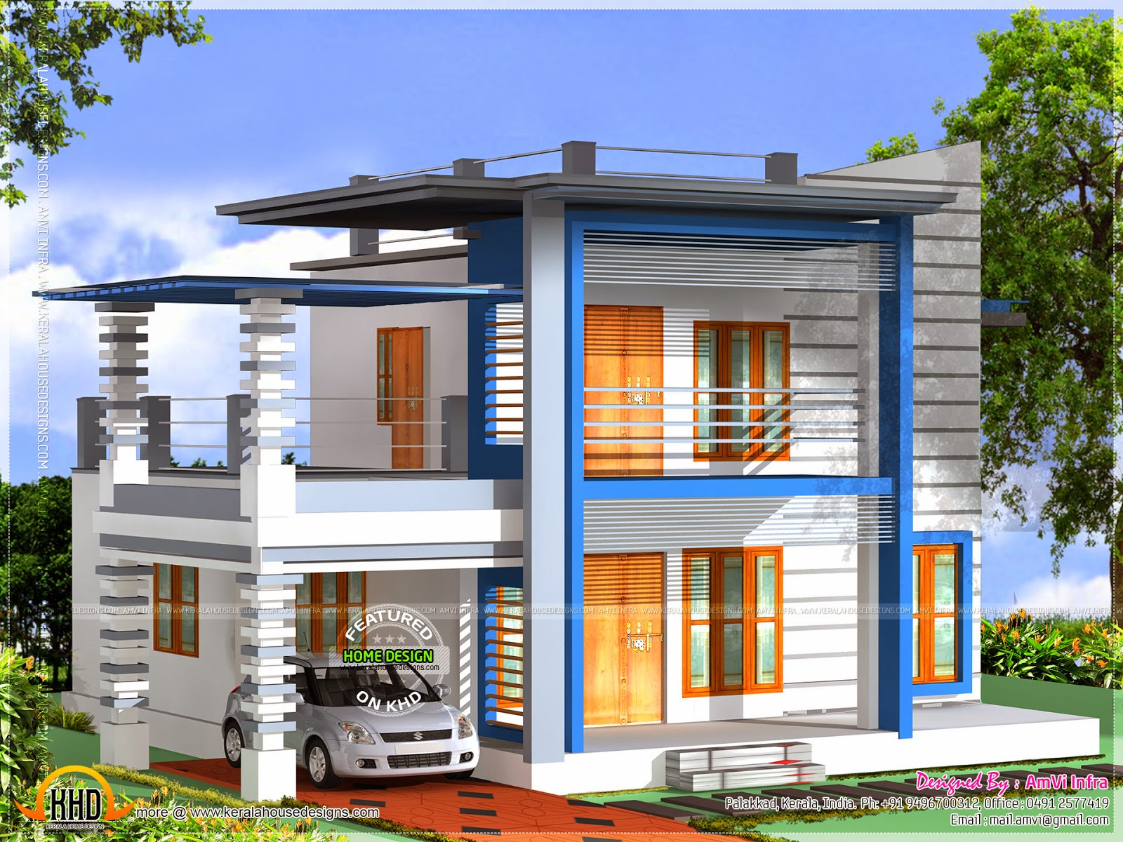 3D 3 Bedroom House Plans with Views