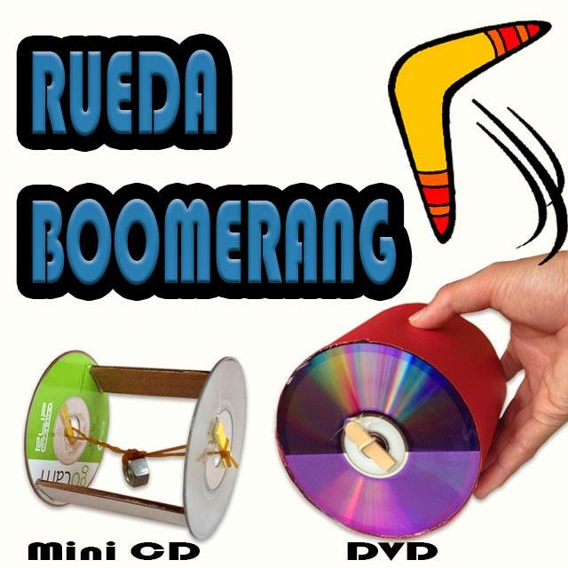 Rueda Boomerang juguete de energía potencial