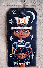 """Praline Pumpkin Girl"" Hang Tag/Ornie Published in the Autumn 2010 Issue of Prims"