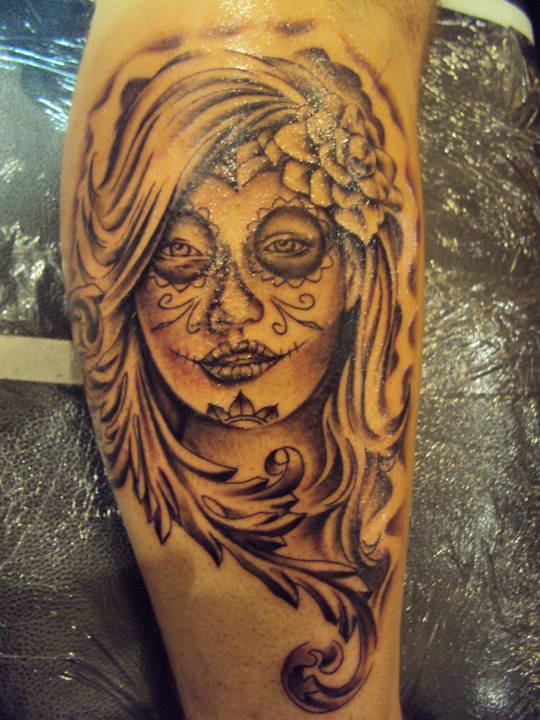 Awesome Catrina Tattoos Design Idea