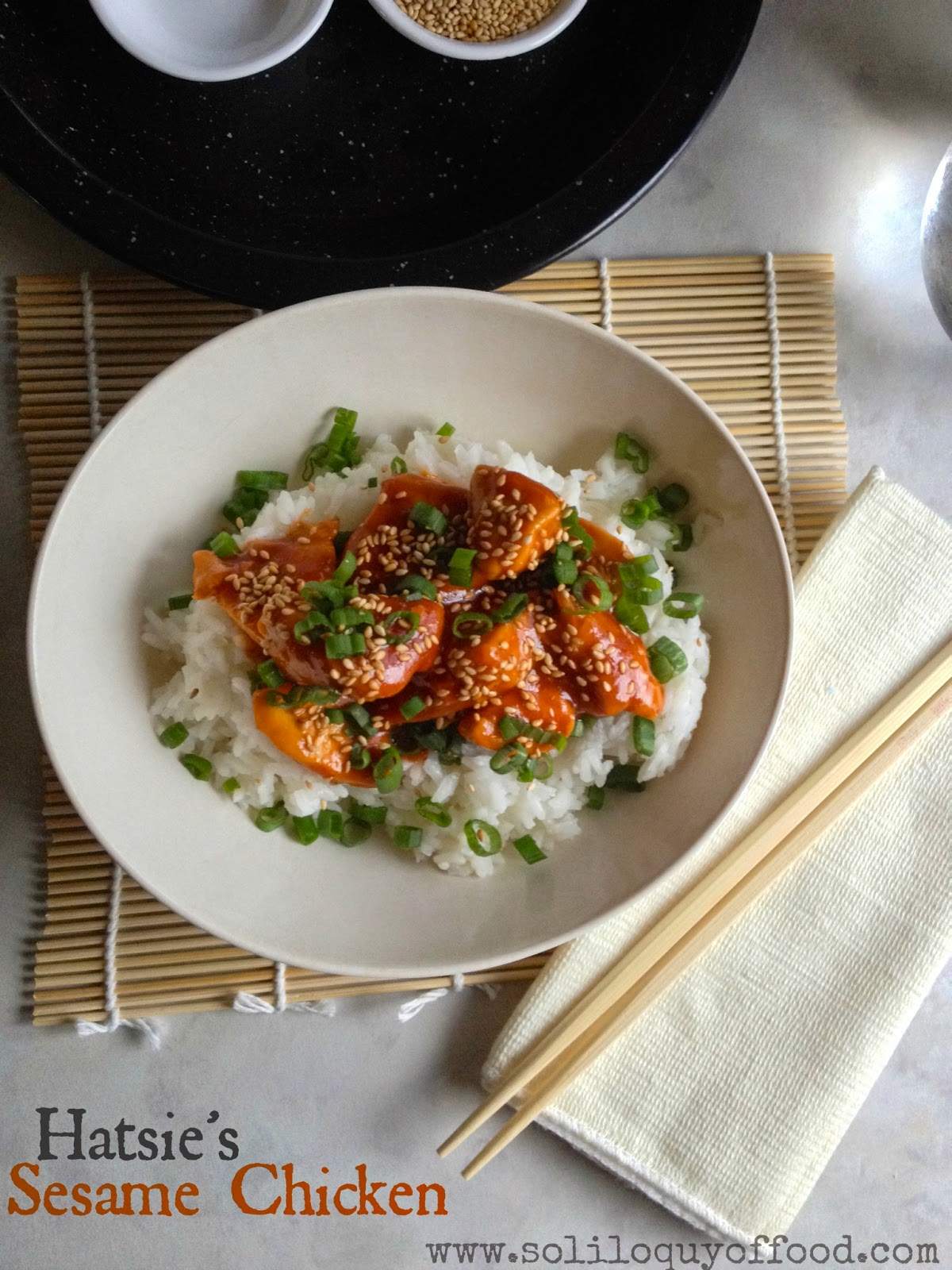 Hatsie's Sesame Chicken - www.soliloquyoffood.com