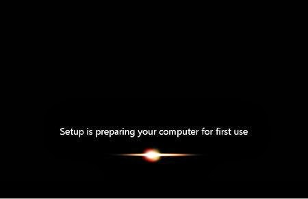Setup is preparing your computer for first use