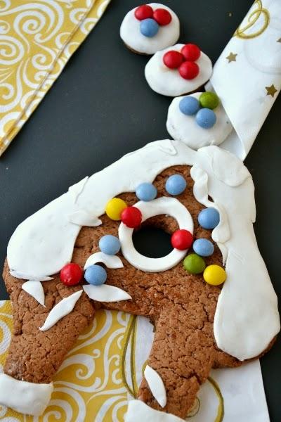casetta di Babbo Natale, biscotto di pan di zenzero